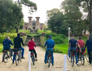 en visite vélo au Moulleau