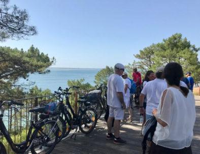 en visite vélo jusqu'au Pilat