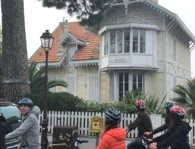 devant la villa Meyerbeer