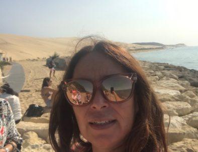 en visite côté plage de la Dune du Pilat